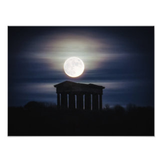 Full Moon over Penshaw Monument Poster/Print Photo Art