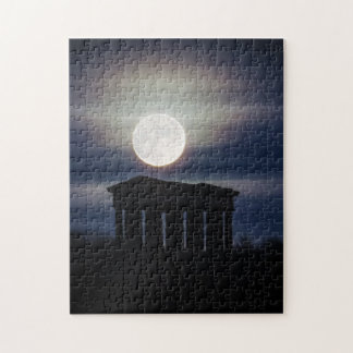 Full Moon over Penshaw Monument Puzzle/Jigsaw Jigsaw Puzzle