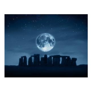 Full Moon Over Stonehenge Postcard