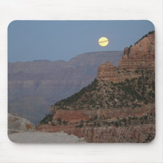 Full Moon over the Grand Canyon Mouse Pad