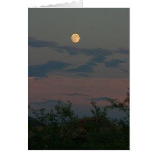 Full Moon ovwe Scottsdale Greeting Card