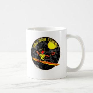 Full Moon Paddler Kayaking Canoeing Coffee Mugs