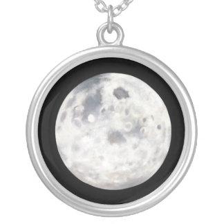 Full Moon Painting Pendant