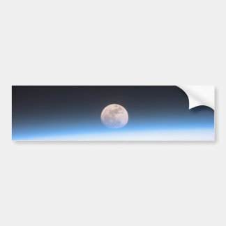 Full moon partially obscured by atmosphere bumper sticker