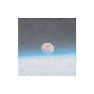 Full moon partially obscured by atmosphere stone magnet