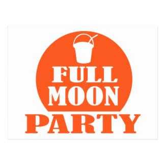 Full Moon Party Postcard