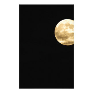 Full moon personalized stationery