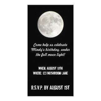 Full Moon Photo Card