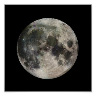 Full Moon Photograph Galileo Poster
