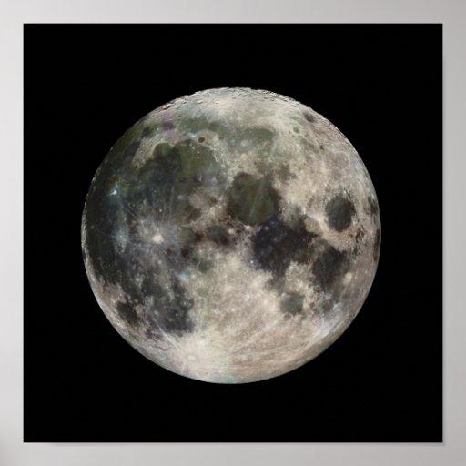 Full Moon Photograph Galileo Poster