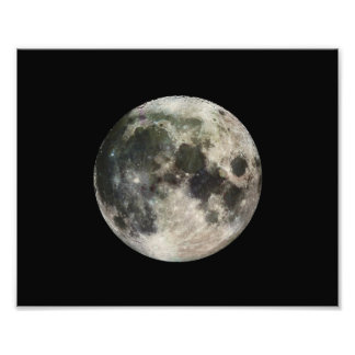 Full Moon Photography Photographic Print