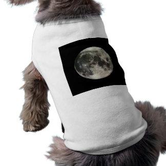 Full Moon Photography Sleeveless Dog Shirt