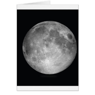 Full Moon Portrait Card