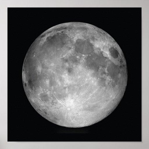 Full Moon Poster Print Zazzle Co Uk