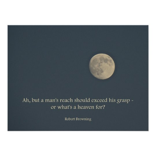 Full Moon Poster Robert Browning Quote