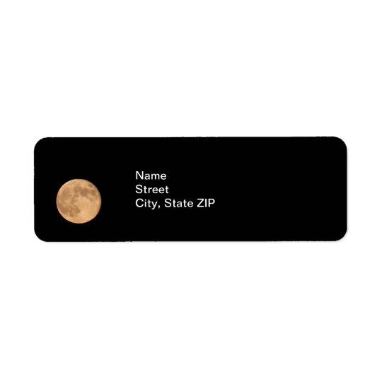 Full Moon Return Address Label