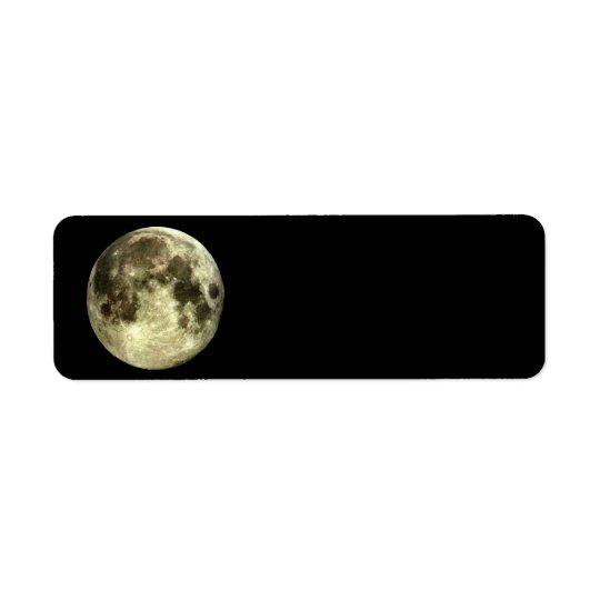 Full Moon Return Address Return Address Label