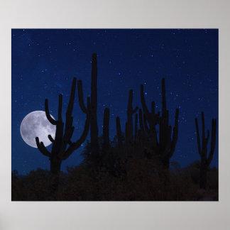 Full Moon Rising in Tucson Poster