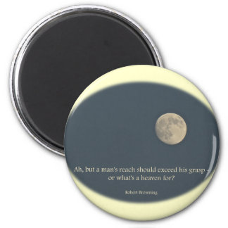 Full Moon Robert Browning Quote 6 Cm Round Magnet