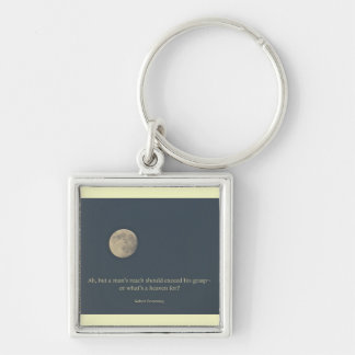 Full Moon Robert Browning Quote Key Ring