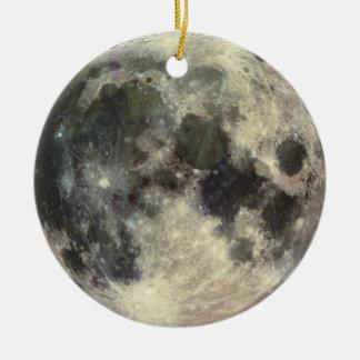 Full Moon Round Ceramic Decoration