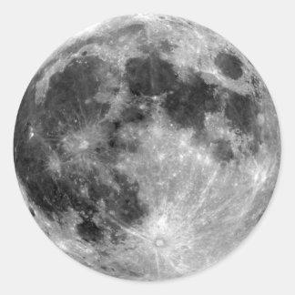 Full Moon Round Sticker