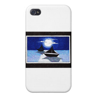 full moon sailing iPhone 4 cover