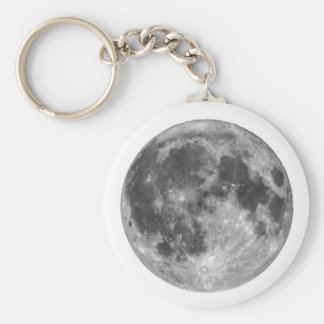 Full moon seen with telescope key ring