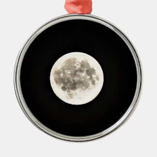 Full Moon Silver-Colored Round Decoration