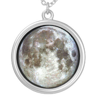 Full Moon Silver Plated Necklace