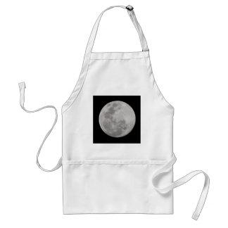 Full Moon Single on Black Standard Apron