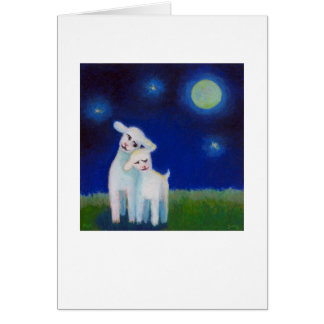 Full Moon Sweethearts - lambs sheep CUSTOMIZE IT Card