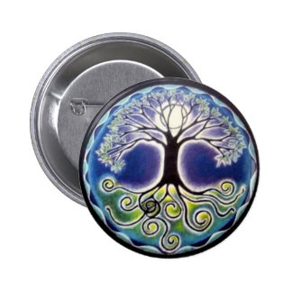 Full Moon Tree of Life Button