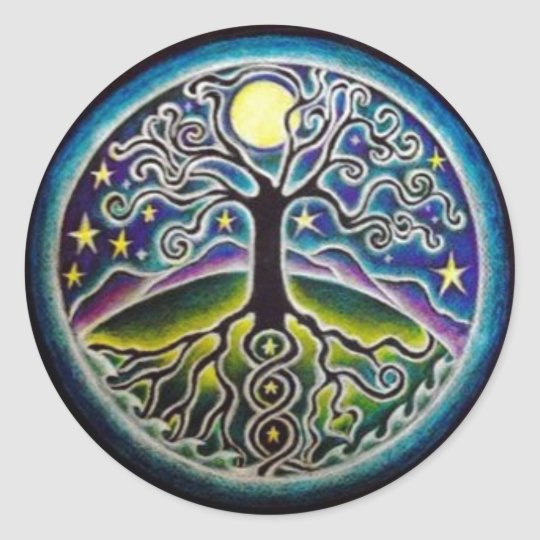 Full Moon Tree of Life Starry Night Mandala