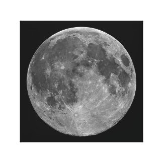 Full Moon Wall Canvas Print