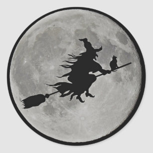 Luggage Tags Halloween Witch Full Moon Castle Bag Tag for Travel 2 PCS