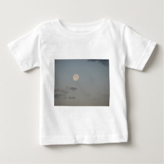 Full moon with clouds baby T-Shirt