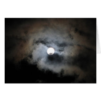 Full moon with clouds card