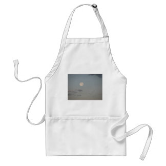 Full moon with clouds standard apron