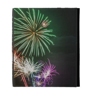 Full Moon with Fireworks iPad Folio Cases