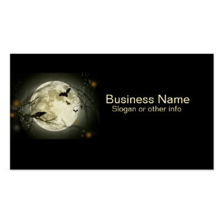 Full Moon with Raven professional Business Card Templates