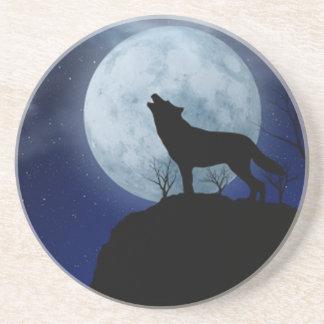 Full Moon Wolf Coaster