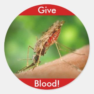 Full Mosquito - State Bird Round Sticker