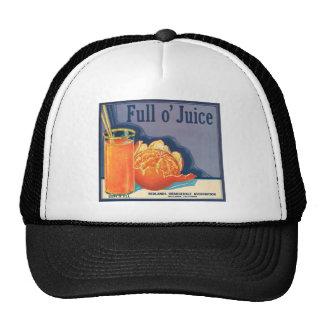 Full o' Juice Vintage Orange Growers Advertisement Cap