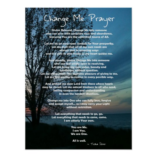 Full on Change Me Prayer Poster