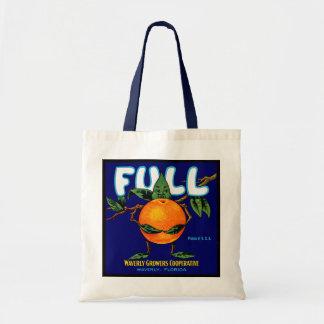 Full - Orange Crate Label Canvas Bags