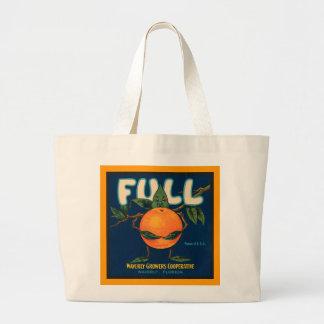 Full - Orange Crate Label Large Tote Bag
