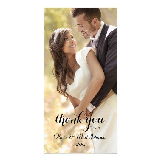 Full Photo Wedding Thank You Card