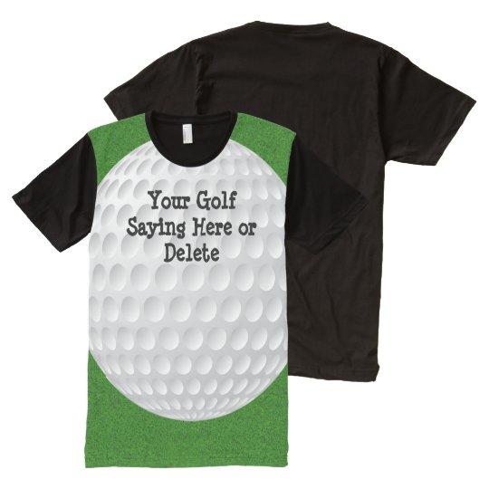 Full Print Golf Shirts. HUGE Golf Ball on