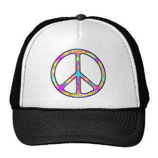 Full Psychedelic Peace Sign Hats